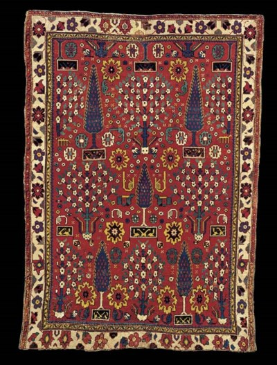 A NORTH WEST PERSIAN SHRUB RUG