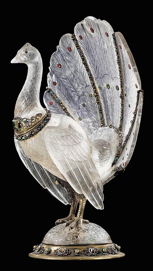 A Viennese gem-set silver-gilt