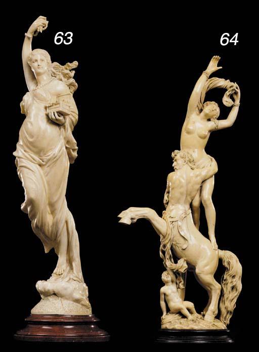 An ivory figure of Pandora