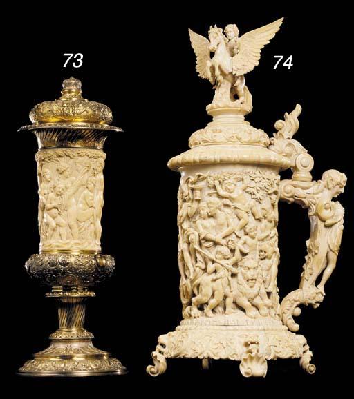 A German gilt-metal and ivory