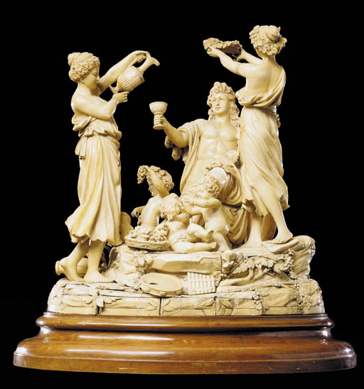 An ivory Bacchic group