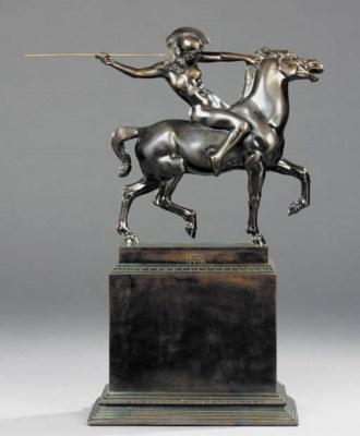 An Austrian patinated-bronze e