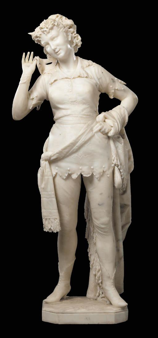 An Italian white marble sculpt
