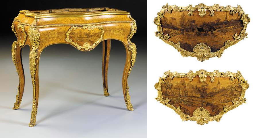 A Royal Louis-Philippe ormolu-mounted marquetry and kingwood jardinière