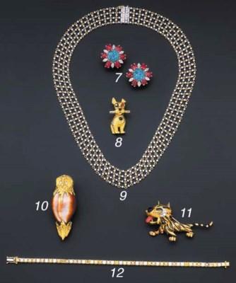 A coloured diamond line bracel