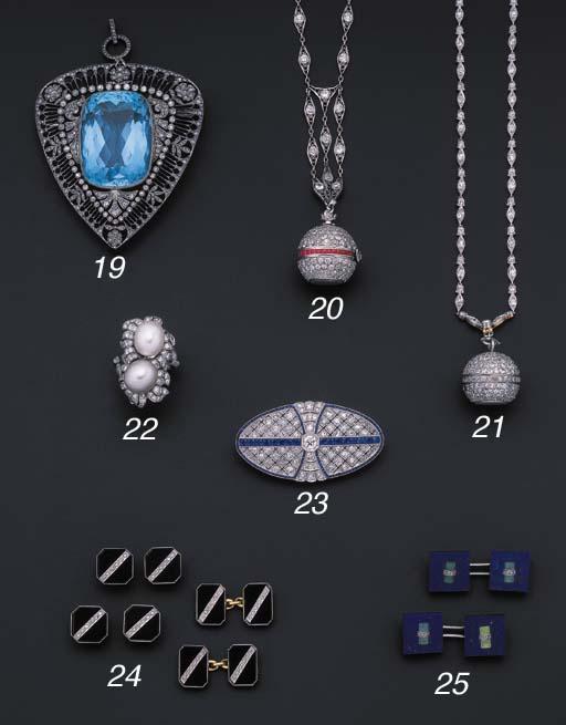 An onyx and diamond dress set