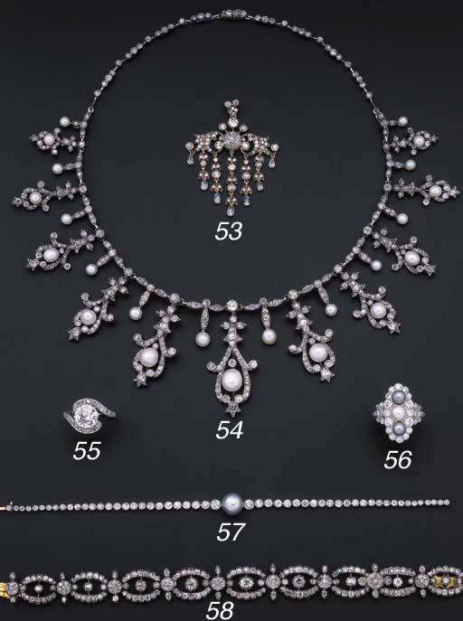 A diamond fringe pendant