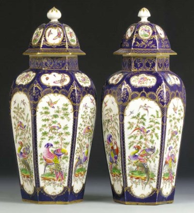 A pair of Worcester blue-scale