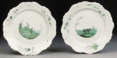 A pair of Marseilles faience p