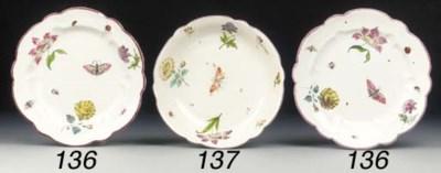 A German fayence shallow bowl