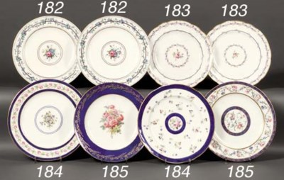 A pair of Sevres plates from t