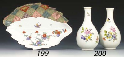 A pair of Meissen bottle-shape