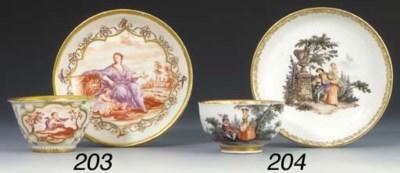 A Böttger Hausmalerei teabowl