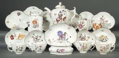 A Meissen composite part tea-s