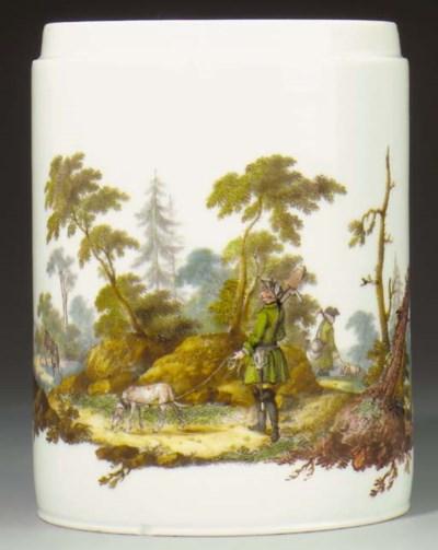 A Meissen cylindrical tankard