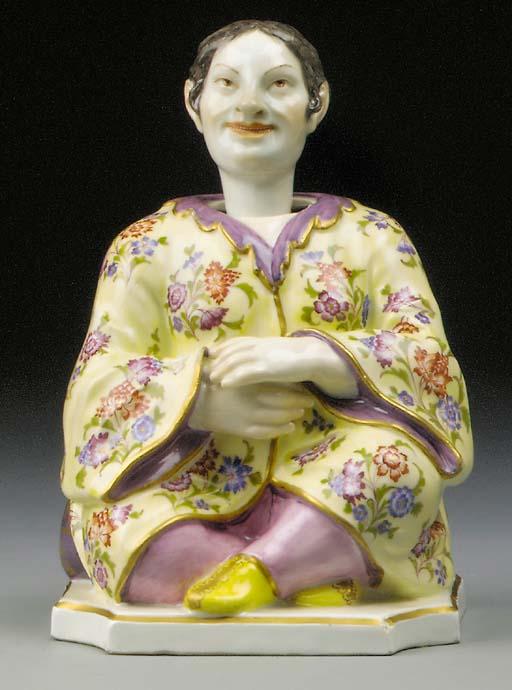 A Meissen nodding pagoda figure