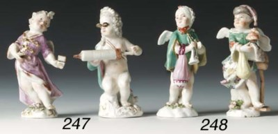 Two Meissen figures of Cupid i