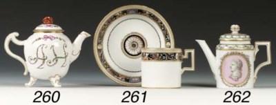 A Berlin cylindrical teapot an