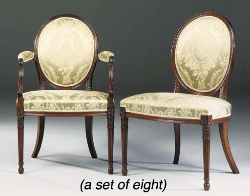 A SET OF EIGHT GEORGE III MAHO