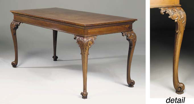 A GEORGE II MAHOGANY SIDE TABL