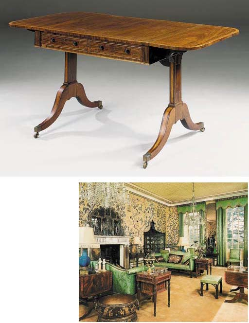 A REGENCY ROSEWOOD SOFA TABLE