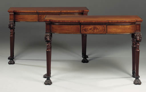 A PAIR OF REGENCY MAHOGANY PIE