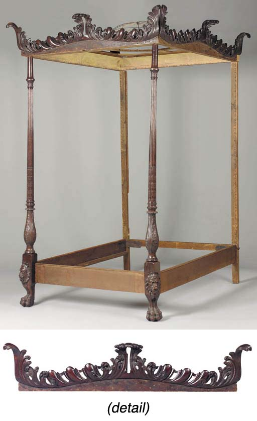 A MAHOGANY FOUR-POST BED