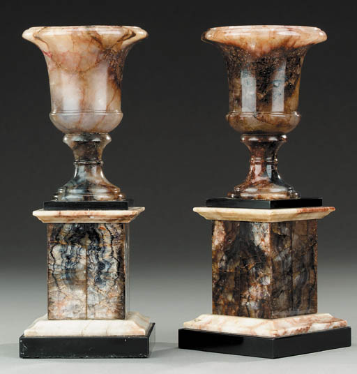 A PAIR OF BLUEJOHN CAMPANA URN