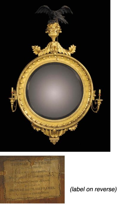 A REGENCY GILTWOOD AND EBONISE