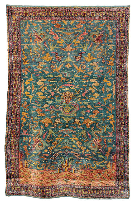 A WEST PERSIAN SILK RUG