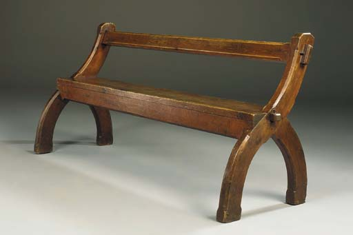 An Oak and Pine Bench