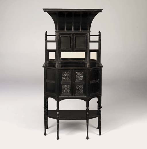 An Ebonised Cabinet