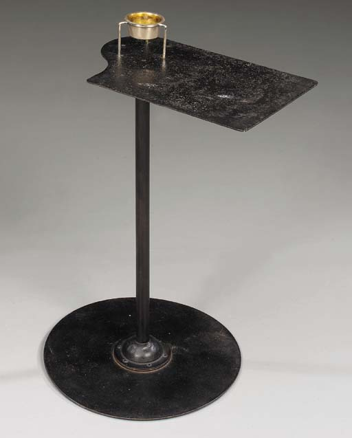 A Wrought Iron Smoking Table