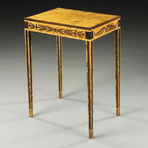 A Satinwood and Fruitwood Occa