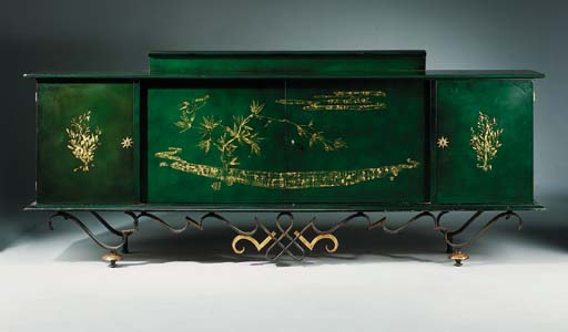 A Lacquered Sideboard