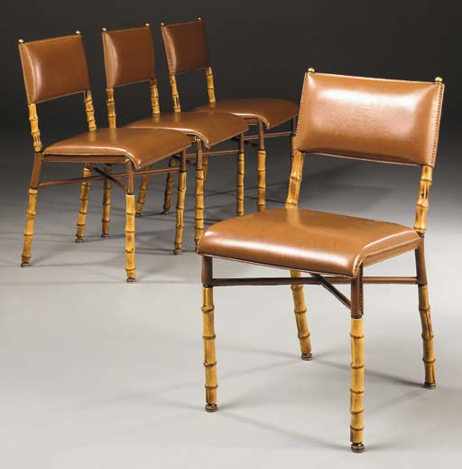 A Set of Four Leather, Metal a