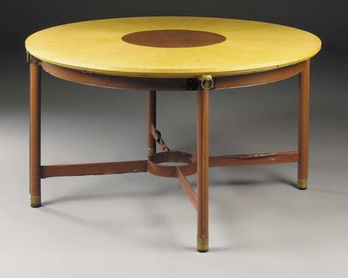 A Sycamore and Leather Table