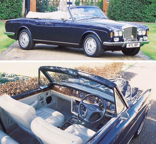 1975 BENTLEY CORNICHE CONVERTIBLE