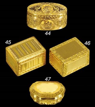 A FINE LOUIS XV GOLD SNUFF-BOX