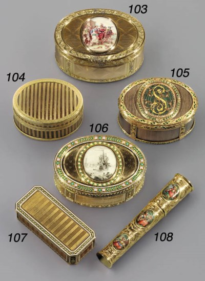 A LOUIS XV GOLD-MOUNTED COMPOS