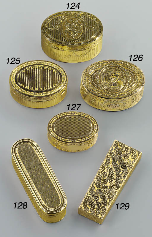 A GEORGE III GOLD NÉCESSAIRE