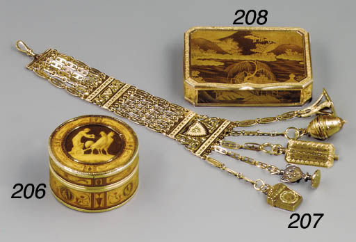A CONTINENTAL GOLD-MOUNTED AND