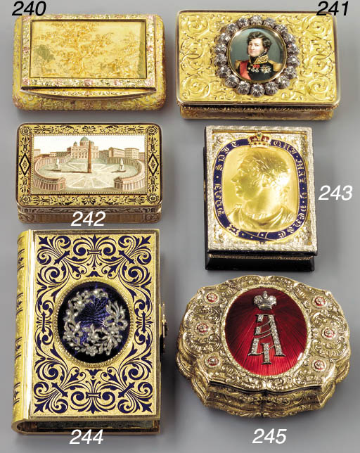 A LOUIS-PHILIPPE JEWELLED GOLD