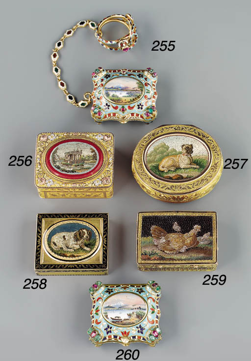 A Swiss enamelled, gold, and g