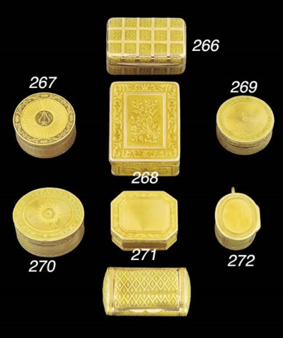 A George III gold vinaigrette