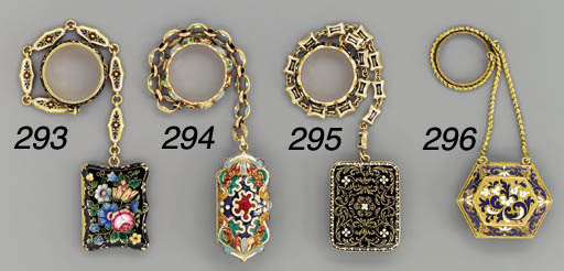 A French enamelled gold pendan