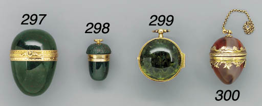 A gold-mounted tourmaline and