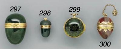 A gold-mounted tourmaline and