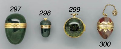 A gold-mounted agate pendant v