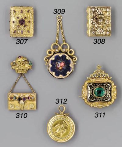 A gold, gem-set and enamelled